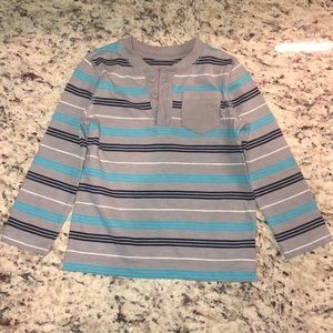 Cat & Jack Toddler Boys Long Sleeved Striped Tee